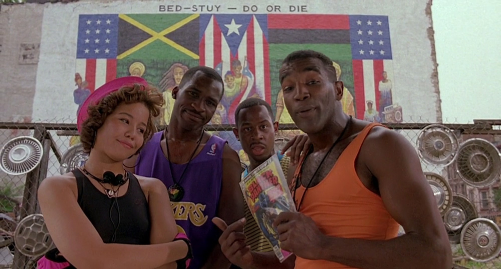 Image result for BLack panther do the right thing pizza